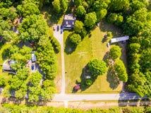 Vista aérea de uma vizinhança do cortador da cookie Fotos de Stock