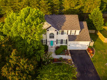 Vista aérea de uma vizinhança do cortador da cookie Imagens de Stock