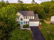 Vista aérea de uma vizinhança do cortador da cookie Imagens de Stock Royalty Free