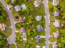 Vista aérea de uma vizinhança do cortador da cookie Foto de Stock