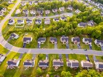 Vista aérea de uma vizinhança do cortador da cookie Fotografia de Stock Royalty Free