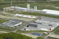 Vista aérea de un área industrial imágenes de archivo libres de regalías