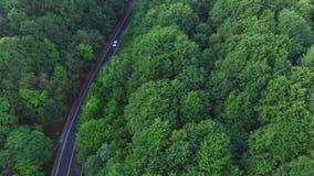 Vista aérea de un camino hermoso de la montaña almacen de video