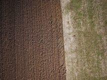 Vista aérea de un campo de f Imágenes de archivo libres de regalías