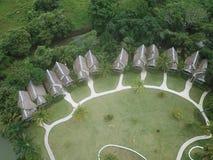 Vista aérea de un complejo playero en Panamá Imágenes de archivo libres de regalías