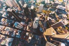 Vista aérea de un LA céntrico Foto de archivo