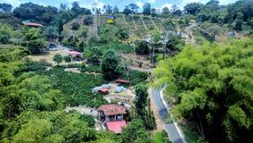 Vista aérea de un parque de atracciones Fotografía de archivo