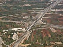 Vista aérea de una carretera Fotografía de archivo libre de regalías
