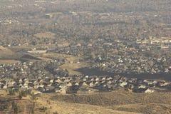 Vista aérea de una ciudad fotografía de archivo libre de regalías