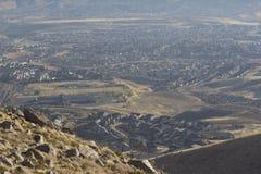 Vista aérea de una ciudad fotos de archivo libres de regalías