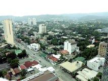 Vista aérea de una ciudad Imagenes de archivo