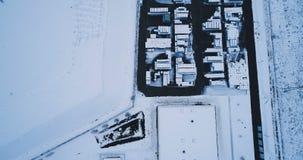 Vista aérea de una fábrica almacen de video