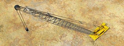 Vista aérea de una grúa stock de ilustración