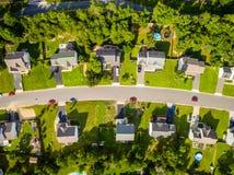 Vista aérea de una vecindad del cortador de la galleta fotos de archivo libres de regalías