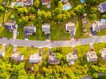 Vista aérea de una vecindad del cortador de la galleta fotografía de archivo