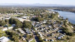 Vista aérea de Urunga, Imágenes de archivo libres de regalías