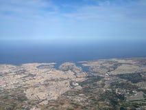 Vista aérea de Valletta Fotos de archivo