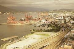 Vista aérea de Vancouver Fotos de archivo