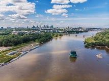 Vista aérea de Varsovia, capital de Polonia foto de archivo libre de regalías
