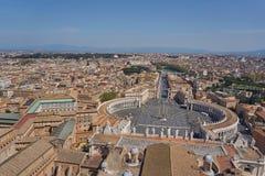 Vista aérea de Vatican Imágenes de archivo libres de regalías