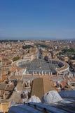 Vista aérea de Vatican Foto de archivo libre de regalías