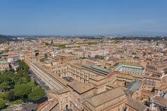 Vista aérea de Vatican Fotos de archivo