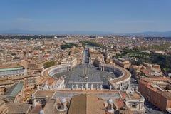 Vista aérea de Vatican Imagenes de archivo