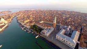 Vista aérea de Venecia almacen de metraje de vídeo