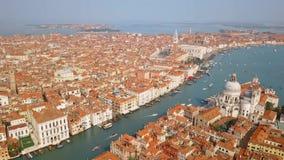 Vista aérea de Venecia Italia almacen de metraje de vídeo