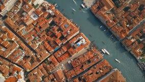 Vista aérea de Venecia Italia almacen de video