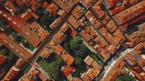 Vista aérea de Venecia Italia metrajes