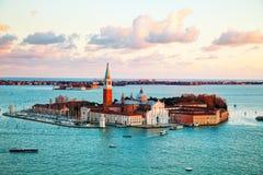 Vista aérea de Venecia, Italia Imagen de archivo