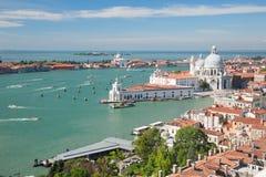 Vista aérea de Venecia y de su laguna Fotografía de archivo libre de regalías