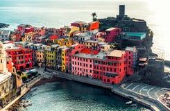 Vista aérea de Vernazza Fotografia de Stock