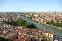 Vista aérea de Verona, Italia Fotografía de archivo libre de regalías