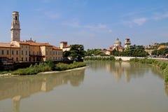 Vista aérea de Verona Italy foto de stock royalty free