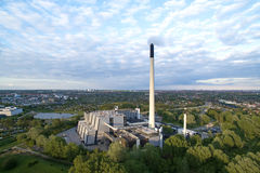 Vista aérea de Vestforbraending en Dinamarca fotografía de archivo libre de regalías