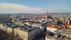 Vista aérea de Viena almacen de metraje de vídeo