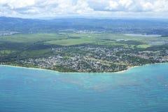 Vista aérea de Vieques, Loiza, Porto Rico Fotos de Stock