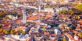 Vista aérea de Vilnius, Lituania fotografía de archivo