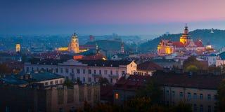 Vista aérea de Vilnius, Lituania fotografía de archivo libre de regalías