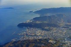 Vista aérea de Wakayama fotografia de stock royalty free