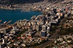 Vista aérea de Wellington Nueva Zelandia Foto de archivo