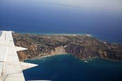 Vista aérea de Zakynthos Fotografía de archivo