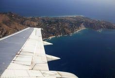 Vista aérea de Zakynthos Foto de archivo libre de regalías