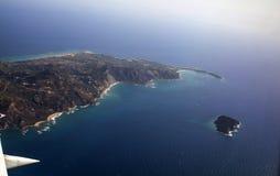Vista aérea de Zakynthos Fotos de archivo libres de regalías