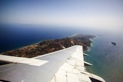 Vista aérea de Zakynthos Fotos de archivo