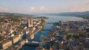 Vista aérea de Zurique video estoque