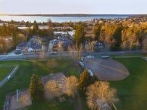 Vista aérea del área de Kirkland Residential imagen de archivo libre de regalías