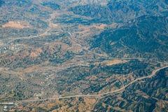 Vista aérea del área de Santa Clarita foto de archivo